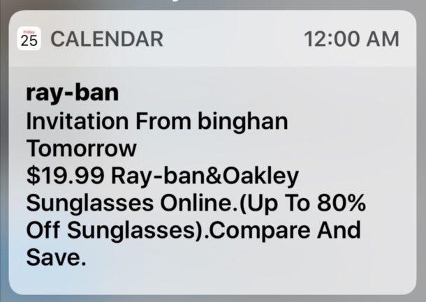Apple aktivně pracuje na problému se spamem v kalendáři