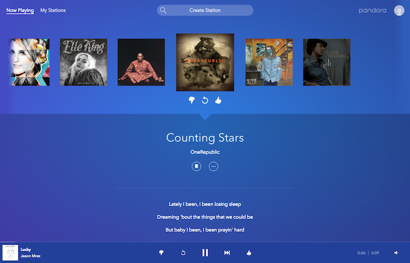Pandora Redesigns Website With New Ui And Premium Playback