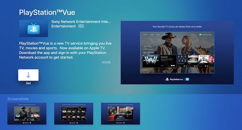 PlayStation Vue for Apple TV launches today