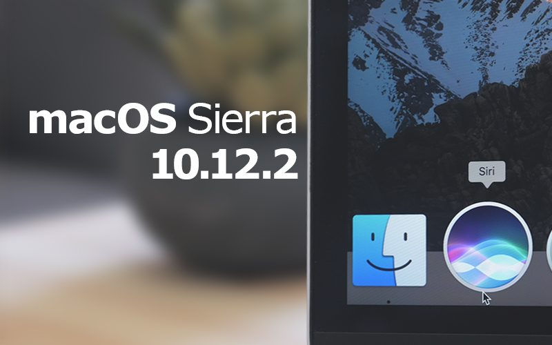 Apple vydal macOS Sierra 10.12.2 pro veřejnost