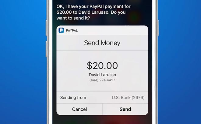 PayPal Now Supports Siri On The iPhone And iPad