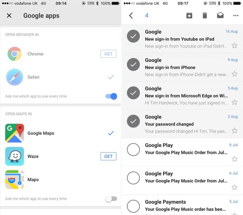 how to selectively download attachments of multiple emails in gmail