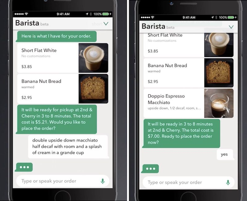 Starbucks unveils chatbot app for ordering