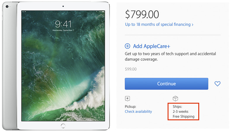 12.9-Inch iPad Pro in Short Supply Ahead of Rumored March Update