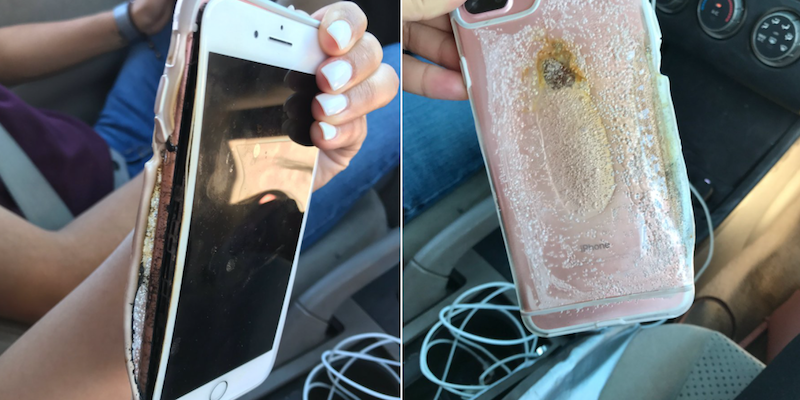 apple investigating iphone 7 plus caught melting on video