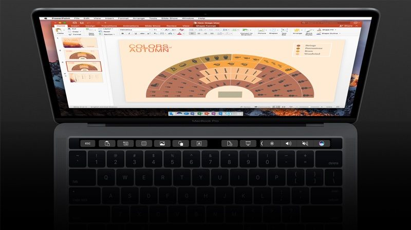 Microsoft Office now offers support for the MacBook Pro touch bar