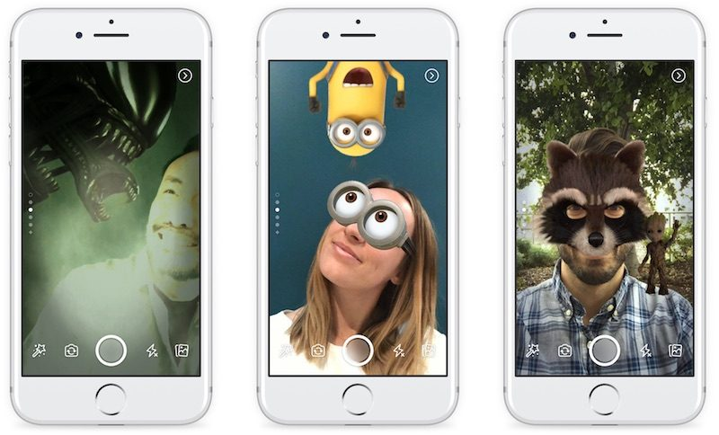 facebook launches camera within ios app with effects filters and 24 hour stories