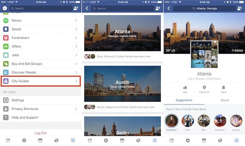Facebook Helps Tourists With New 'City Guides'
