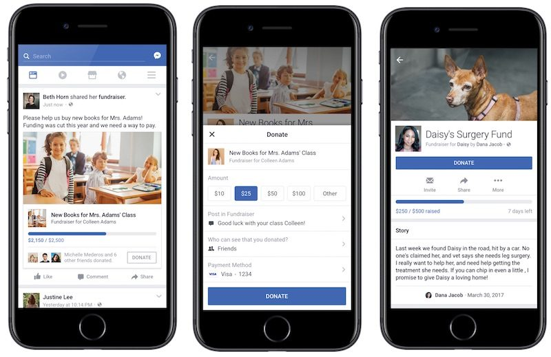 Facebook launches personal fundraising tool
