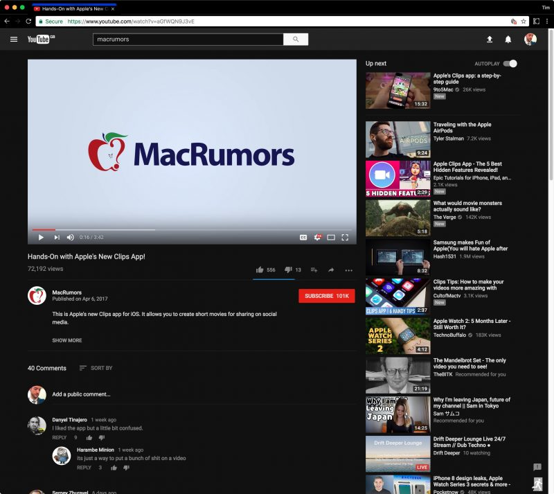 YouTube working on official dark mode