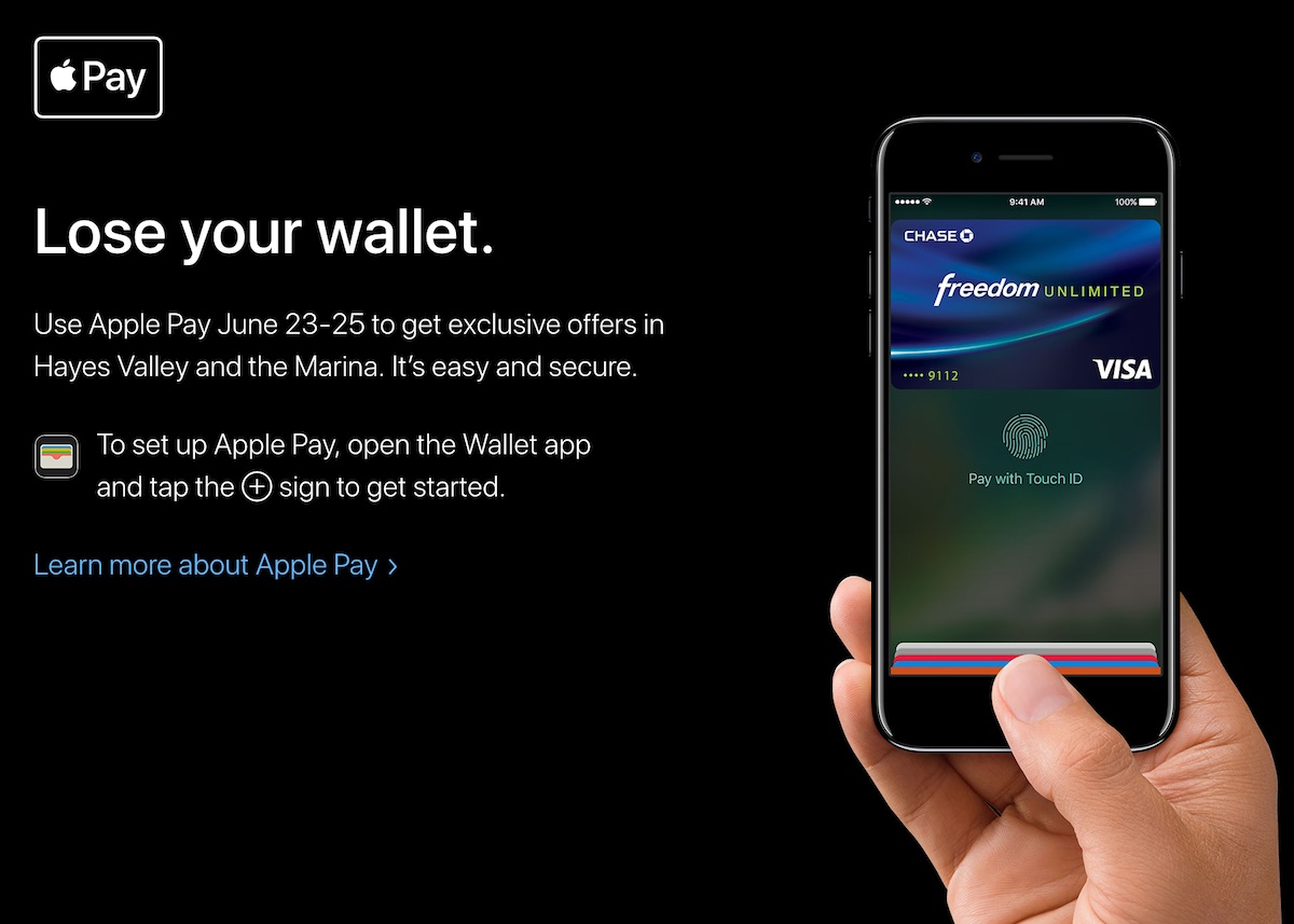 Apple Announces 'Lose Your Wallet' Apple Pay Shopping Event With