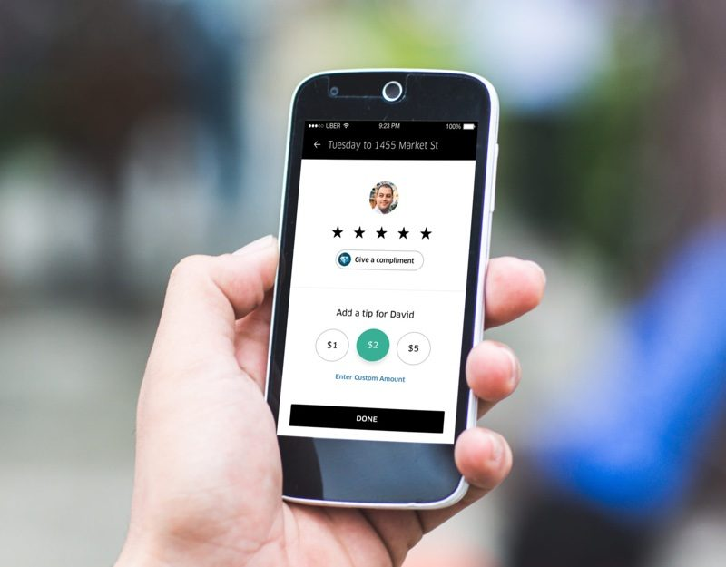 Uber's In-App Tipping Feature Expands to 121 Cities Across North America