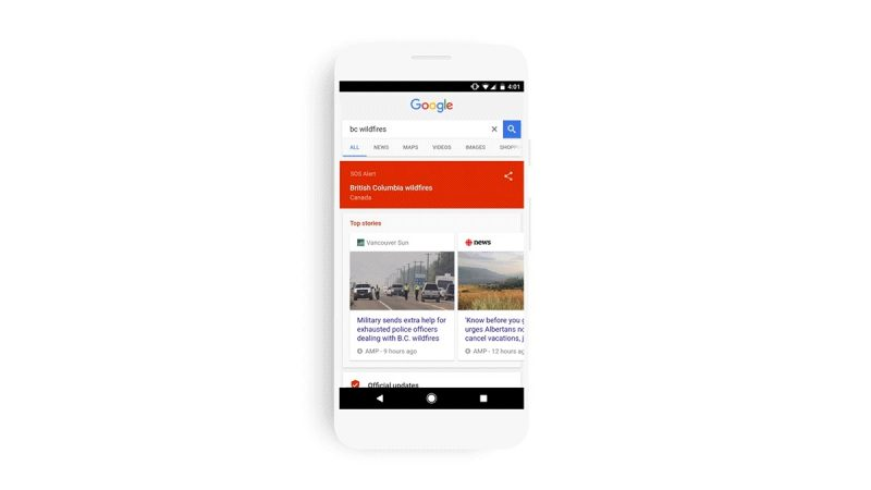 Google Search and Maps Apps Gain 'SOS Alerts' Feature