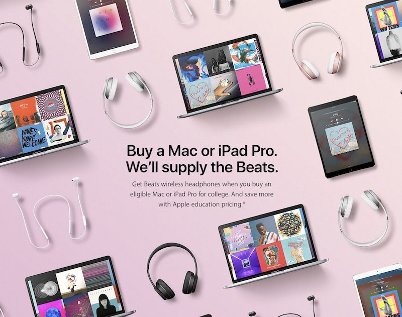Apple Launches 2017 Back to School Promotion: Free Beats With Select Mac or iPad Pro Models