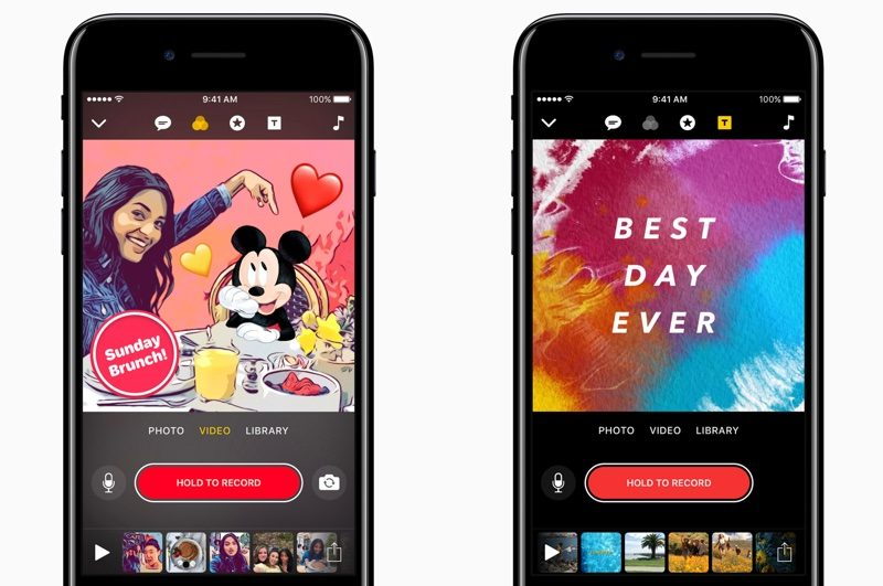 Apple Updates 'Clips' Video App With Disney Characters, New Graphics Overlays