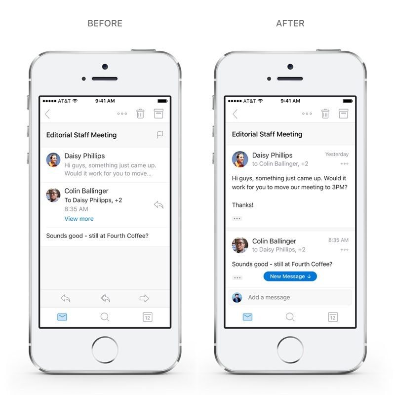 Microsoft Updates Outlook for iOS With Redesigned Navigation, Conversations and Search