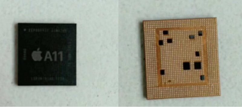 blurry images allegedly depict a11 processor set to power iphone 8