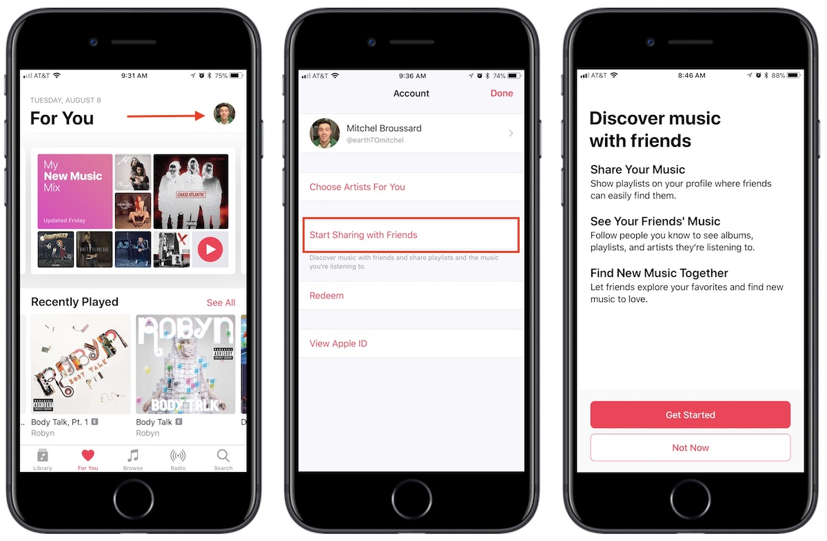 How to Make an Apple Music Profile to Connect With Friends in iOS 11