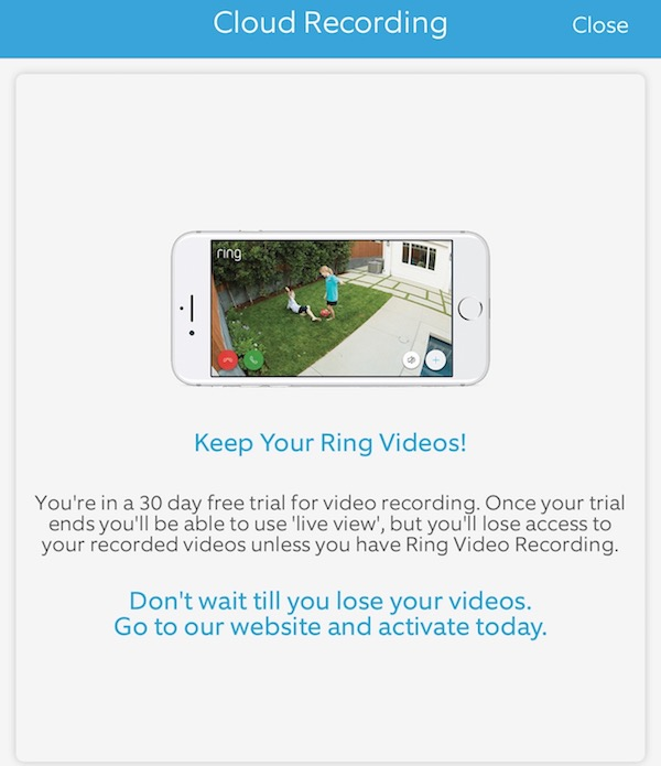 Year Ring Video Cloud Recording