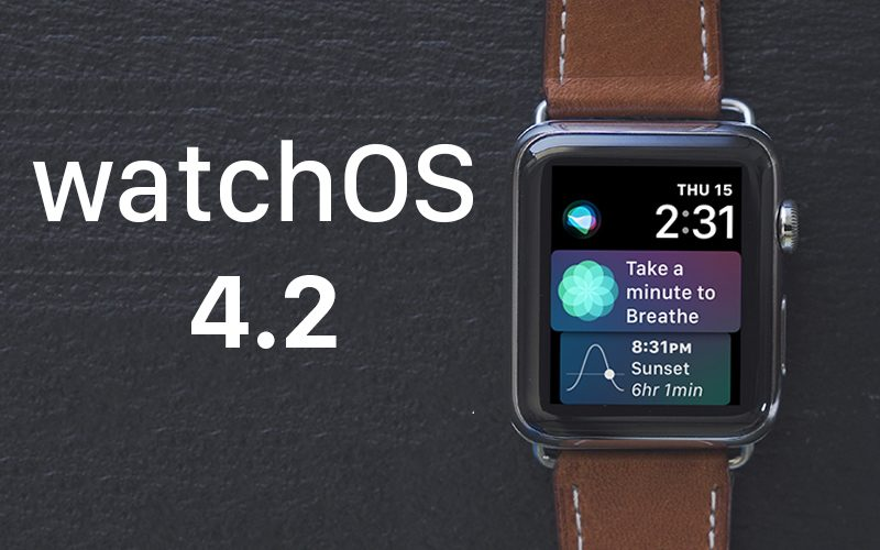 apple releases watchos 4 2 with support for apple pay cash