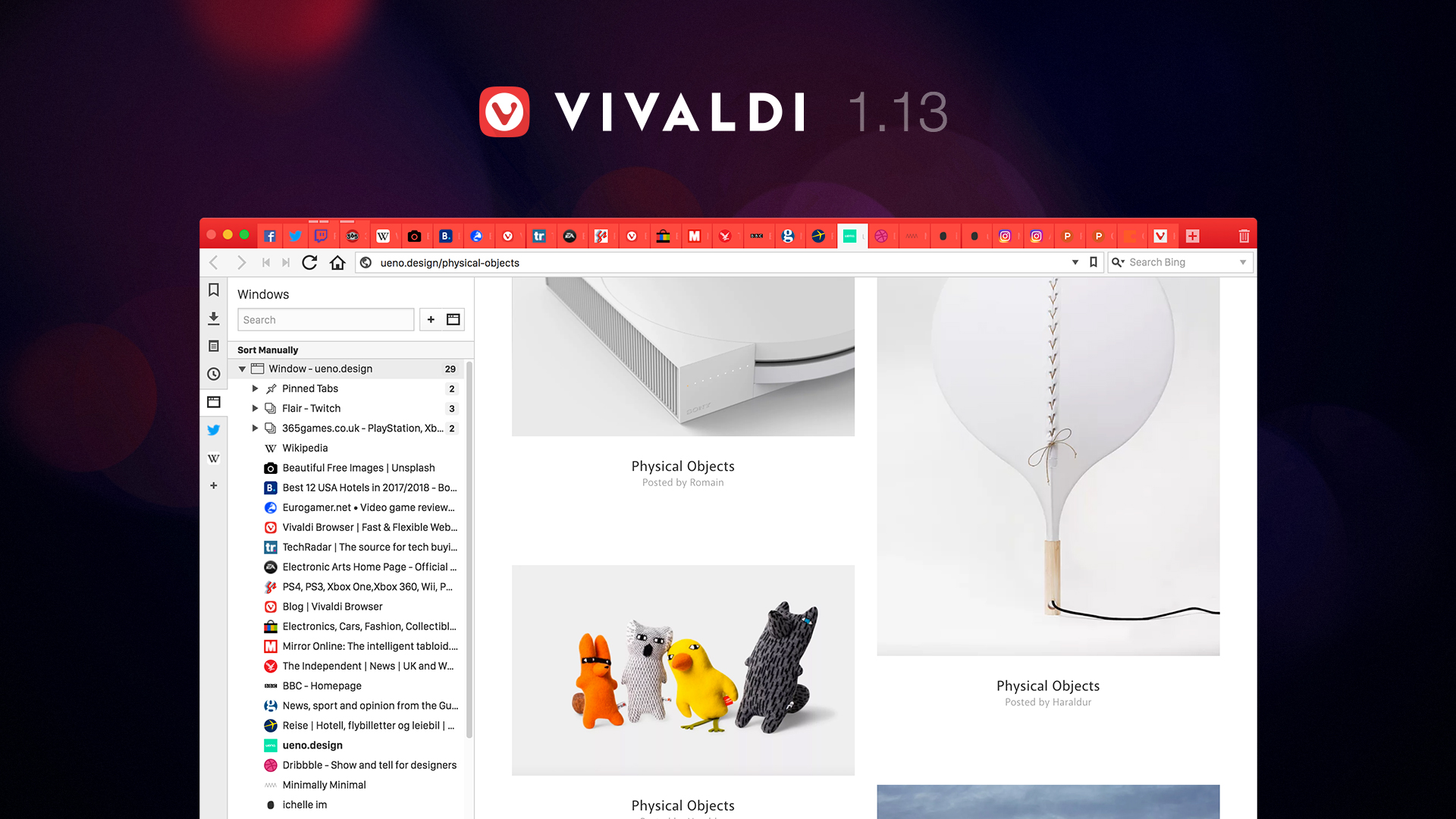 vivaldi web browser 1 13 for power users gains new multi tab management features