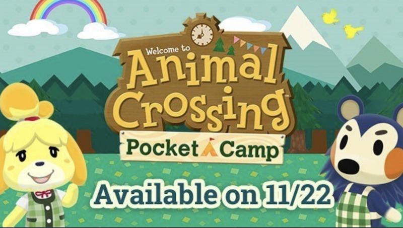 nintendo sets animal crossing pocket camp release date for november 22