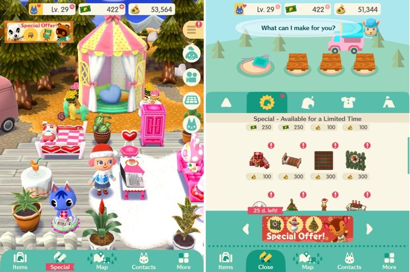 nintendo launches first holiday event in animal crossing pocket camp