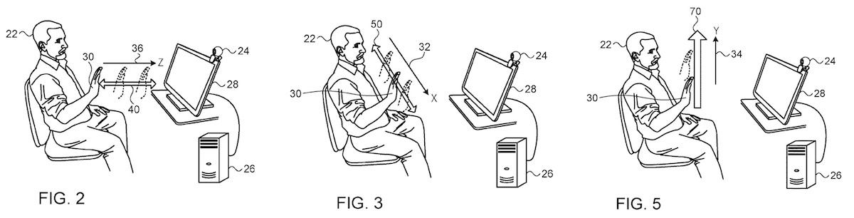 members of apple s primesense team patent method of interacting with mac using hand gestures