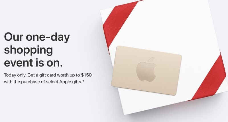 apple s black friday event launches in the us with free gift cards up to 150