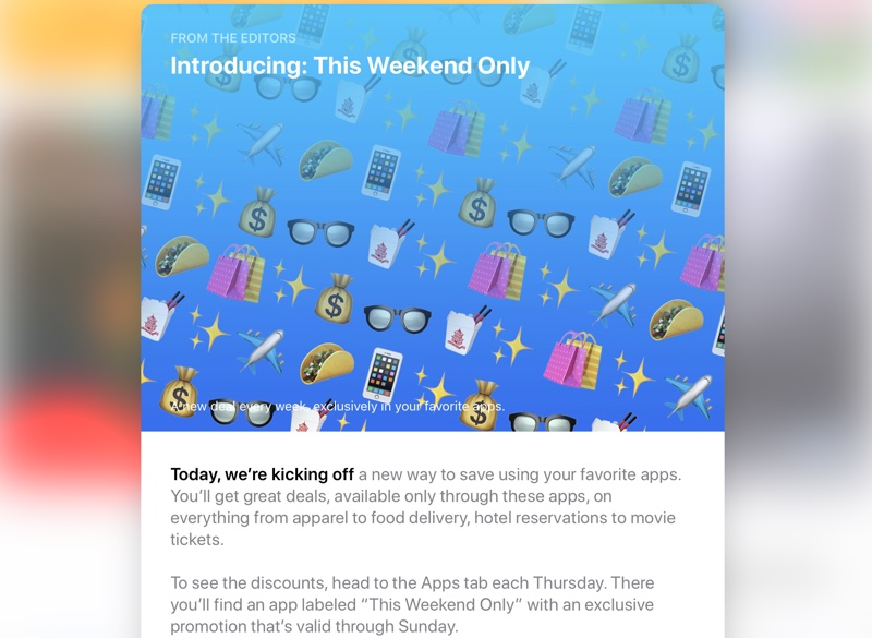 apple launches new this weekend only app store deals feature