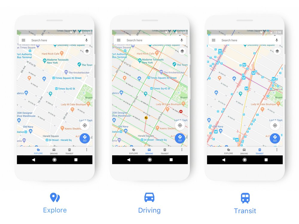 google maps updated with new look to make finding places easier