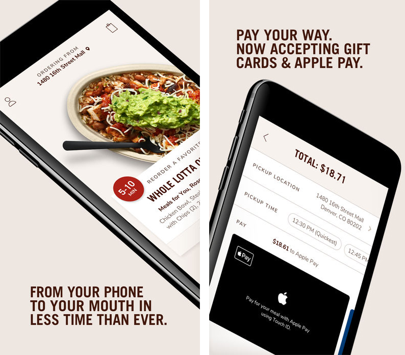 chipotle s all new order ahead app launches with support for apple pay