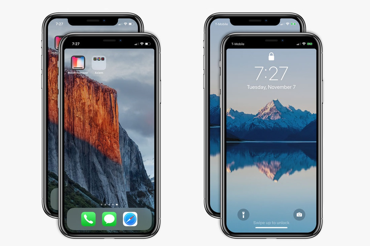 apple approves notch remover app for iphone x