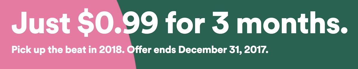 spotify launches holiday sale new users can get three months of premium for 0 99