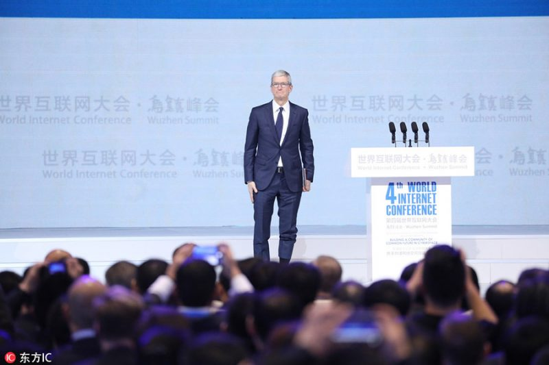 tim cook touts apple s contribution to chinese economy at state run web summit