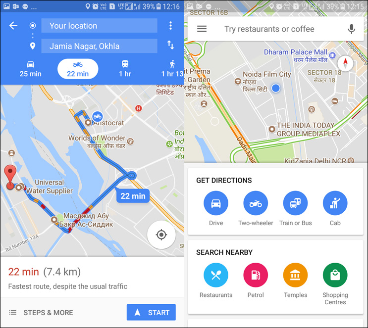 google maps two wheeler mode launches in india more countries to follow