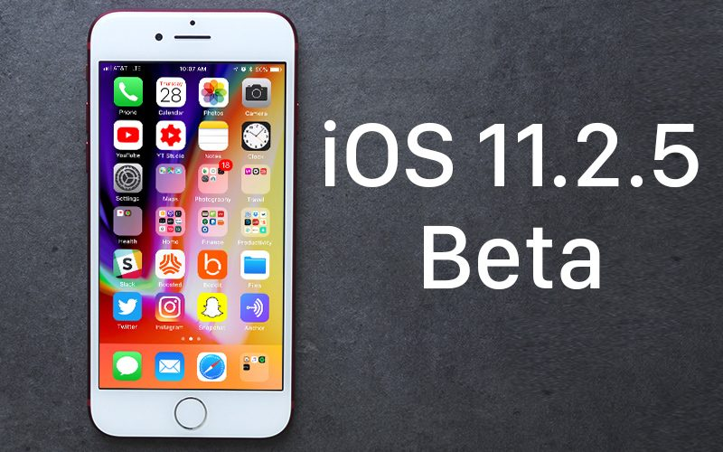 Apple Seeds Fifth Beta of iOS 11.2.5 to Developers and Public Beta Testers