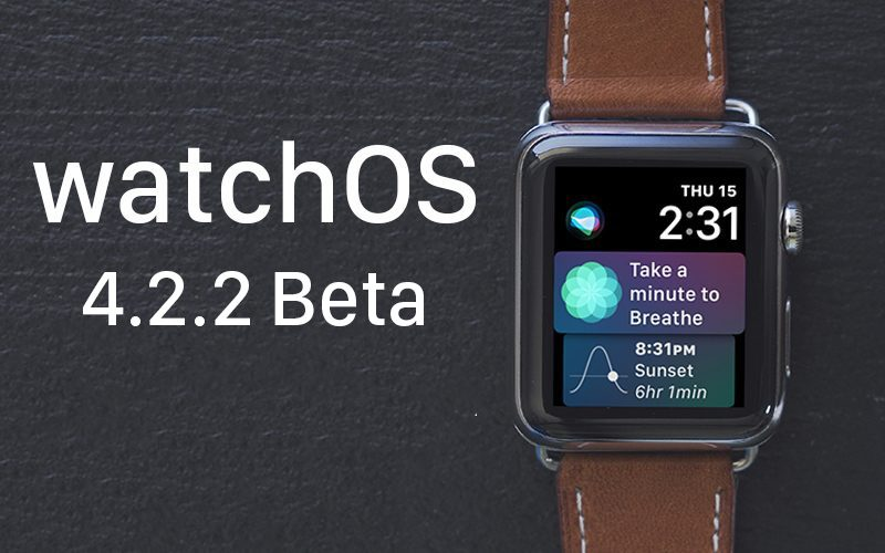 apple seeds fifth beta of watchos 4 2 2 to developers