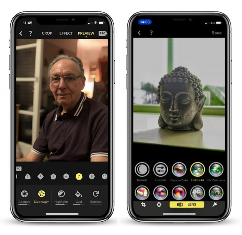portrait camera app focos gains real lens optical effects and improved shooting mode