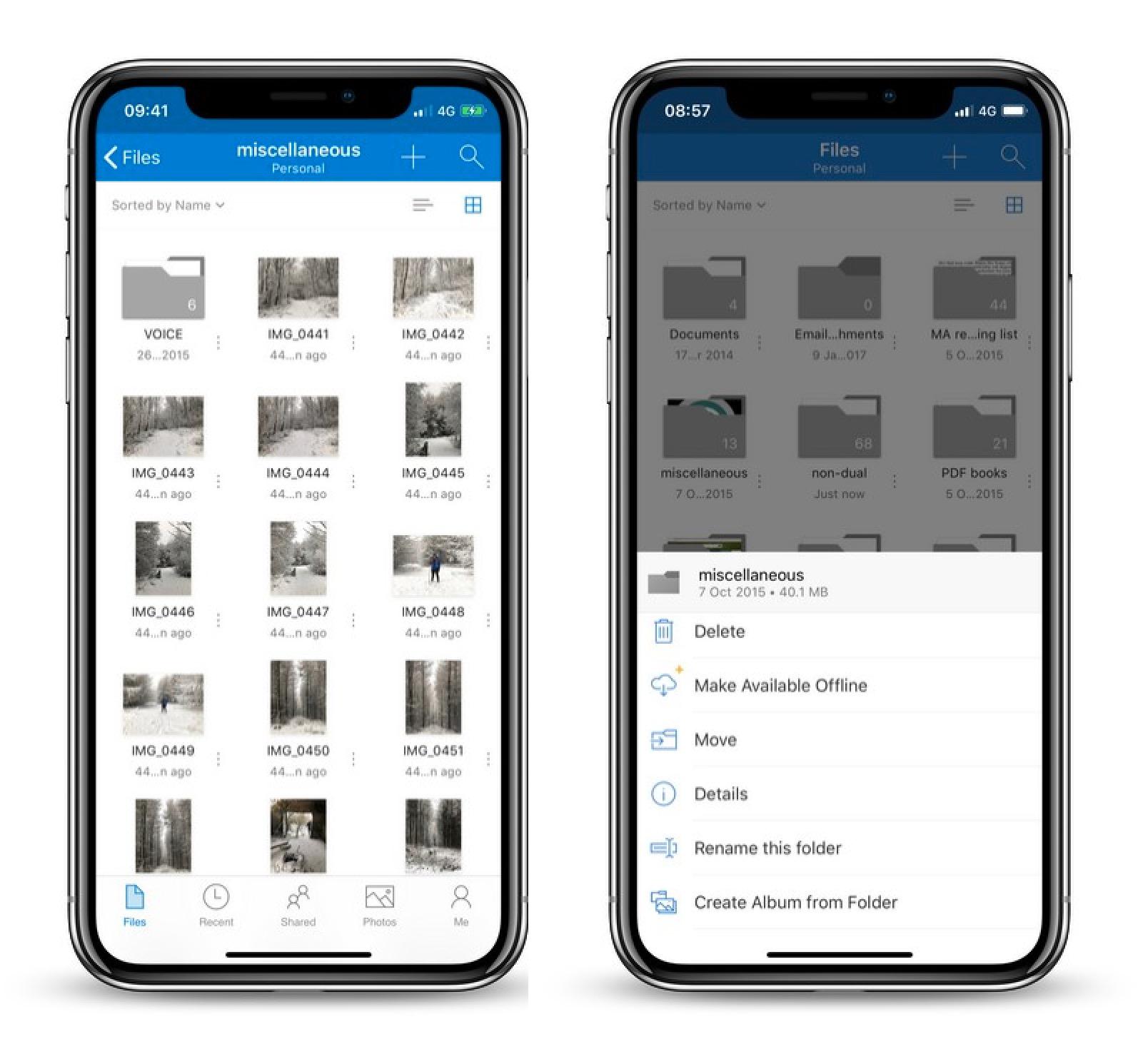 SkyDrive for iPhone and iPad full screenshot