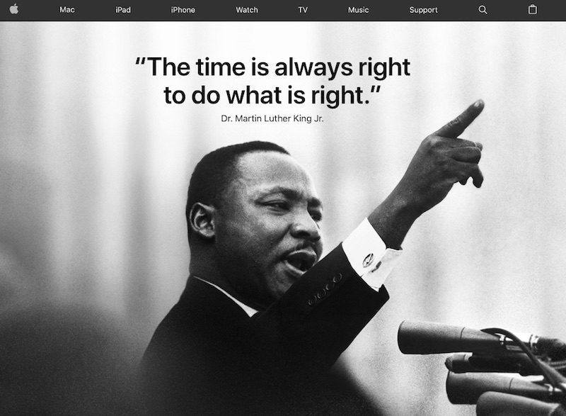 apple and tim cook honor the life of dr martin luther king jr