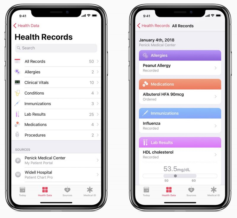 apple s ios health records feature now works with 75 providers