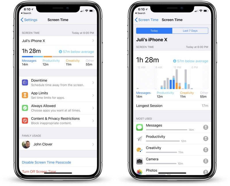 photo image Hands-On With iOS 12's New Screen Time Feature With App Usage Stats, App Limits and More