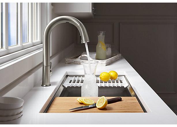 ces 2018 kohler s new sensate kitchen sink faucet and dtv shower system will support homekit