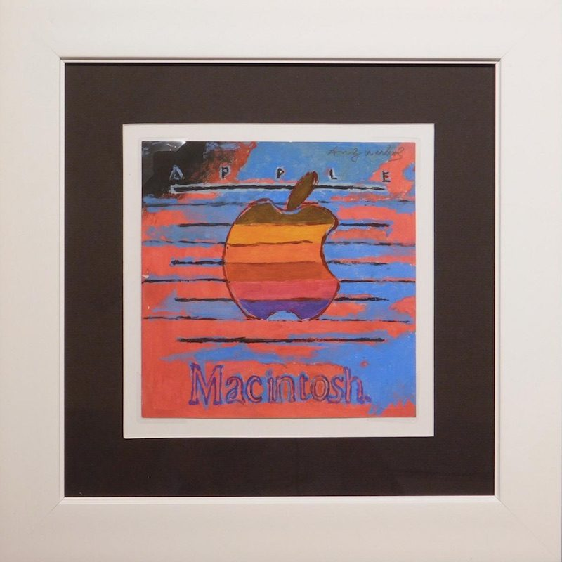 classic macintosh painting by andy warhol estimated to fetch up to 30 000 at auction next month