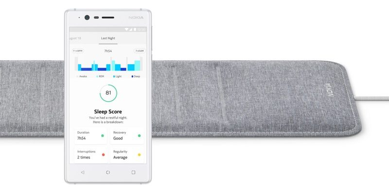 ces 2018 nokia launching 99 beddit style sleep tracking accessory
