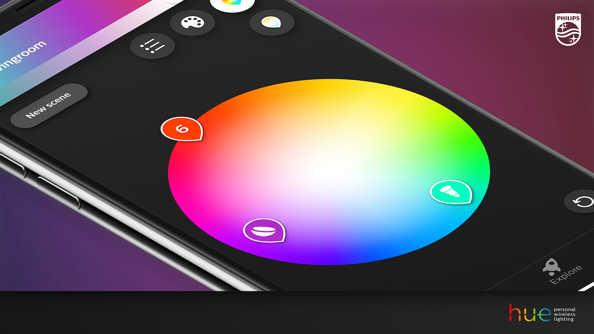 ces 2018 philips hue announces ios app redesign hue sync for macos and outdoor bulbs coming mid 2018