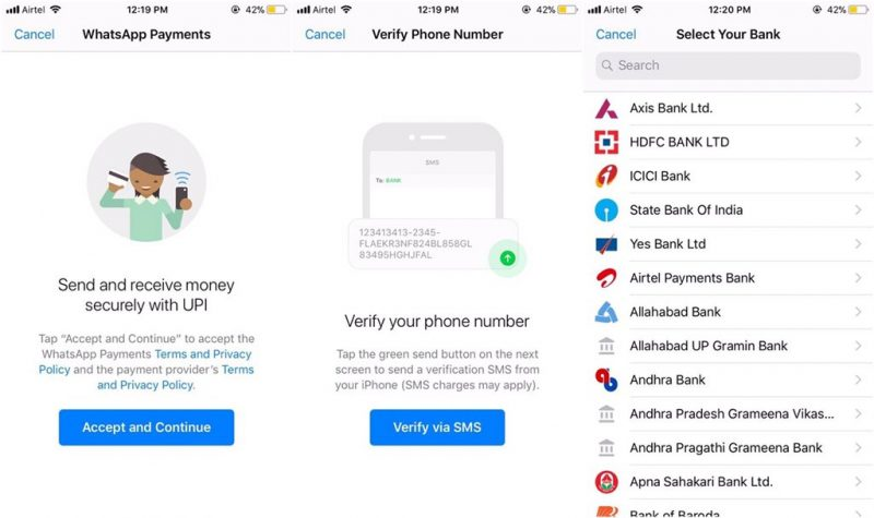 Screenshots of WhatsApp's First Peer-to-Peer Payments System Surface Online
