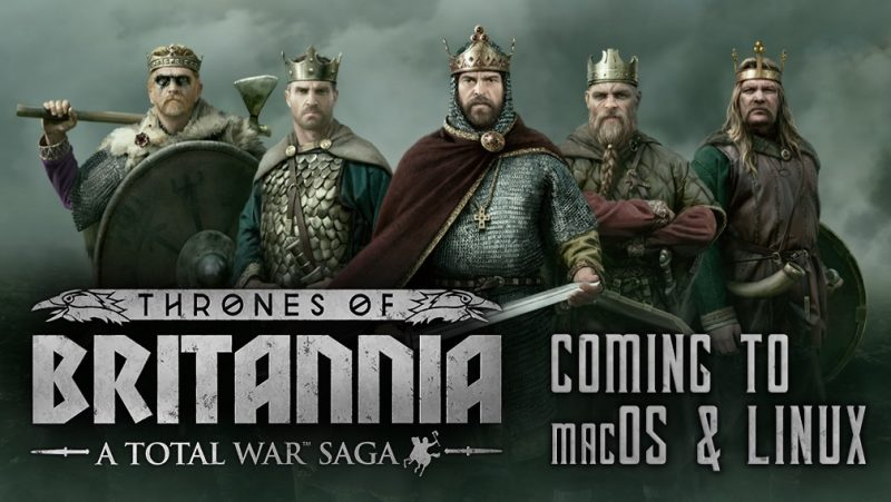 feral announces total war saga thrones of britannia coming to mac