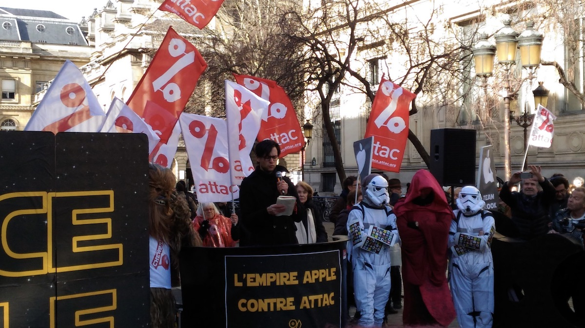 apple goes to court with french tax activist group that paints company as the empire from star wars